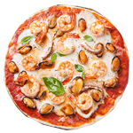Seafood pizza pn
